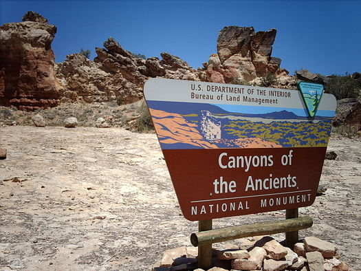 "Conservationists are protesting the Bureau of Land Management's determination that oil and gas development in an area adjacent to Canyons of the Ancients National Monument would have ""no adverse effect."" (Nationalparks/Wikimedia Commons)"