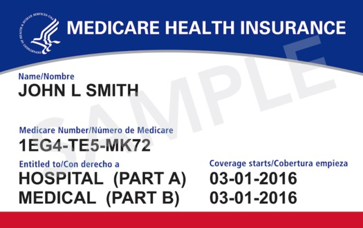 The new Medicare cards have an 11-digit Beneficiary Identifier number. (Medicare.gov)