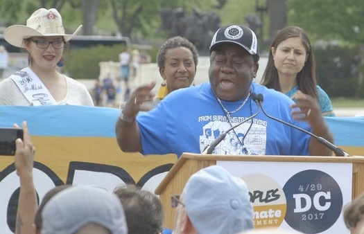 Justice First organizer Rev. Leo Woodberry says their effort is timed to lead up to the People's Climate March 2018, and ahead of this fall's elections. (Vimeo/The People's Climate March)