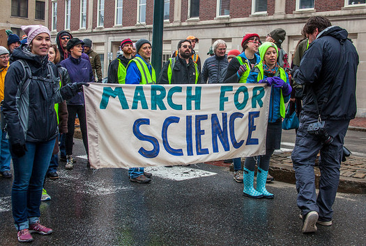 Last year, more than a million people around the world participated in the March for Science. (Paul VanDerWerf/Flickr)
