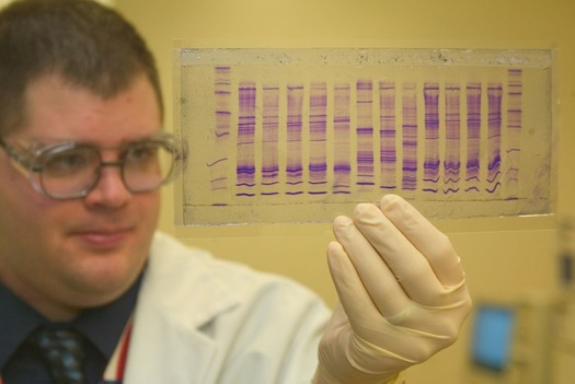 DNA from sexual-assault evidence kits can link to suspects in the DNA database. (James Tourtellotte/CBP [Public domain])