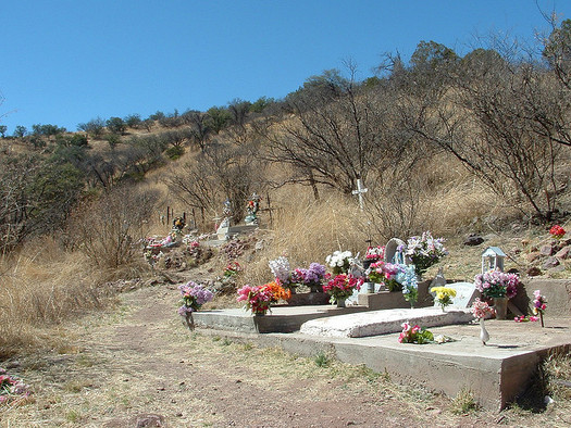 The Harshaw cemetery in southern Arizona is one of just three places where Patagonia eyed silkmoths are found. (Dedhed1950/Flickr)
