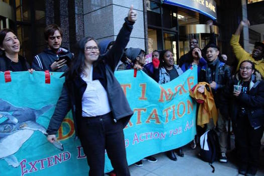 Supporters of an immigrant-rights activist facing deportation are gathering outside a Seattle immigration courtroom today. (Northwest Detention Center Resistance)