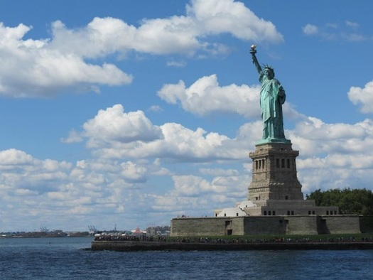 The seawall protecting the Statue of Liberty is among the National Park Service sites in need of repair. (National Park Service)