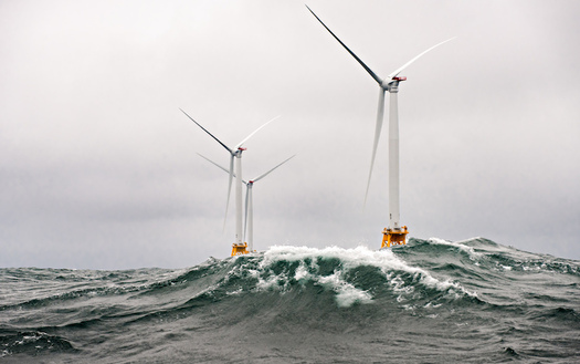A 30-Megawatt offshore wind farm, the first in the nation, went into operation off Block Island in 2016. (U.S. Dept. of Energy)