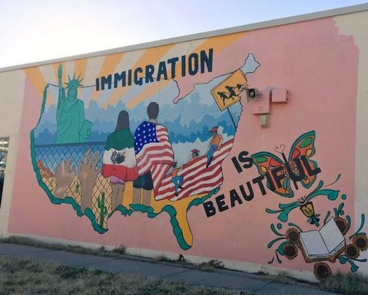 The New Mexico region was the third lowest in arrests made by ICE last year; in part, advocates credit cities' non-discrimination policies. (creativeresistance.org)