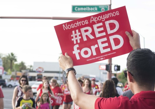 Arizona is just one of several states where teachers have walked out this spring, taking inspiration from a successful teacher strike in West Virginia. (Katherine Davis-Young/PNS)