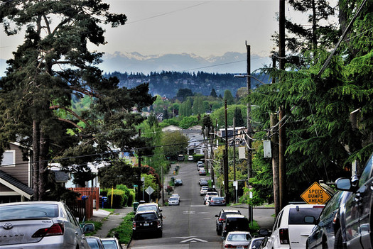 Seattle's preference for single-family homes leads to more driving and more cars. (Joe Wolf/Flickr)