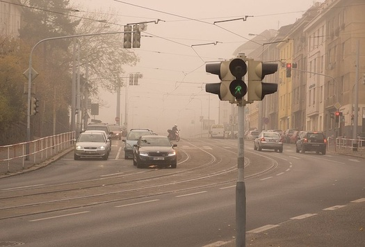 Air pollution raises health risks for people with heart disease, asthma and other respiratory diseases.  (Martin Vorel/Wikimedia Commons)