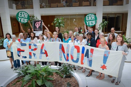 The ERA NC Alliance recently gathered in Raleigh for an advocacy day to urge lawmakers to pass the Equal Rights Amendment. (ERA NC Aliiance)