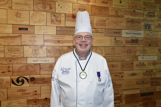 Chef Robert Anderson with the Iowa Culinary Institute at Des Moines Area Community College is a recipient of the L�Ordre des Palmes Academiques award from the French Republic. (dmacc.edu)