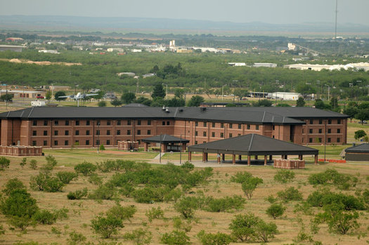 The government plans to build a migrant detention center at GoodFellow Air Force Base in San Angelo, Texas, on a former firing range near an uncapped, closed landfill. (Wikimedia Commons)