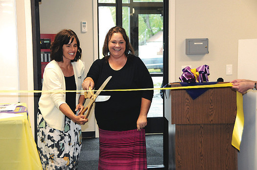 Cindi Godfrey and Kristi Keeler of Kids Klub in Grangeville, Idaho, received their early education degrees while working, with support from an academic scholarship. (Kids Klub, Inc.)