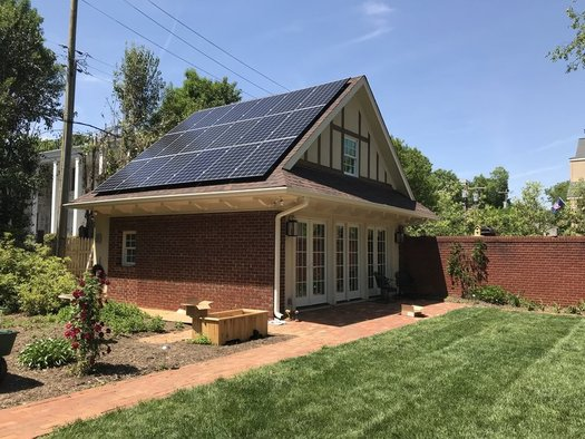 The Thomason family of Charlotte added home solar panels earlier this summer and already reports a decrease in its electric bill. (Courtesy of Bob Thomason)