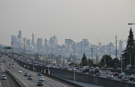 The Seattle metro area experienced nearly a month of bad air quality in 2016. (SounderBruce/Flickr)