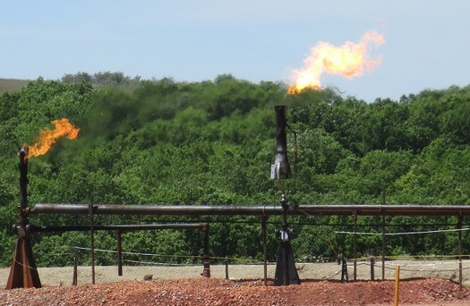 As much as $96 million worth of natural gas is lost due to flaring, venting and leaks in Wyoming's oil and gas fields every year. (BLM)