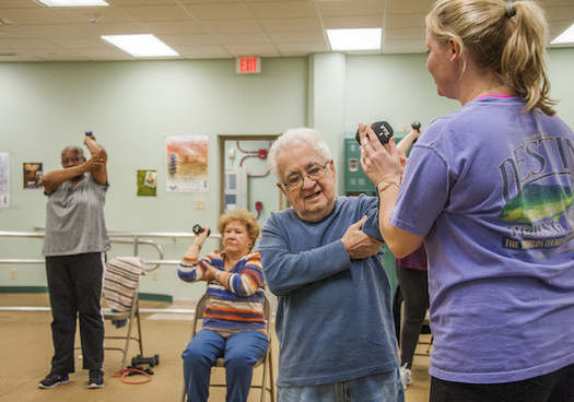 The 2018 Wyoming Conference on Aging will outline strategies, including exercise, for managing chronic health conditions. (USAF)