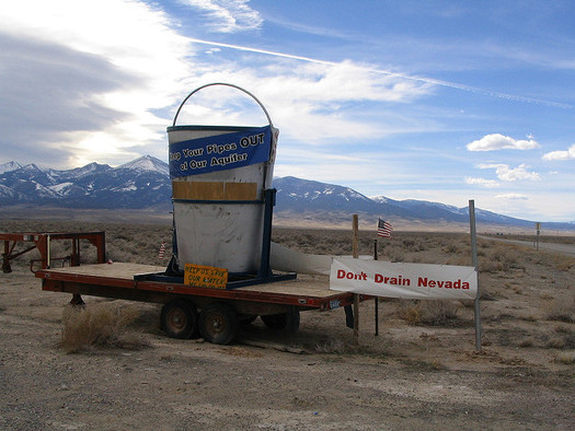 Many rural Nevada communities are opposed to the idea of pumping groundwater from outlying regions of the state to serve Las Vegas. (Ken Lund/Flickr)