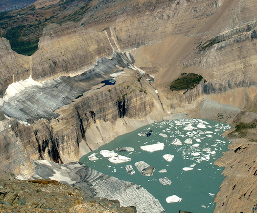 As temperatures have gone up over the past century, many glaciers in Glacier National Park have melted. (Blase Reardon/USGS)