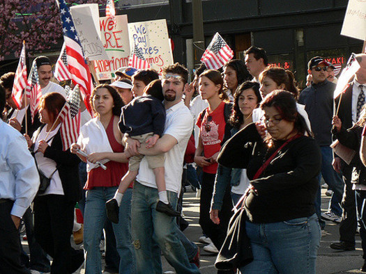 An estimated 24 million people could find it harder to get a green card or visa under a Trump administration proposal to punish legal immigrants who use public benefits. (mahalie stackpole/Flickr)