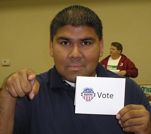 South Dakota, where early voting started on Sept. 21, is one of 37 states and the District of Columbia that offer voting without requiring an absentee excuse or justification. (nativevillage.org)