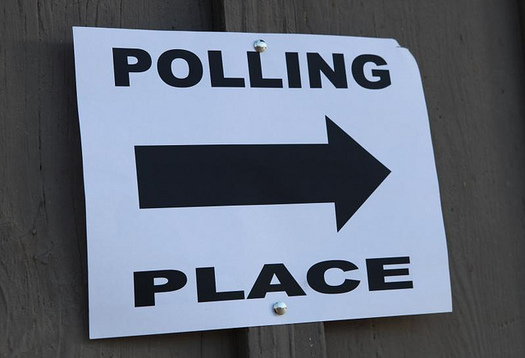 As long as you are in line before 7 p.m., you can still cast a ballot today. (Michael Dorausch/Flickr)