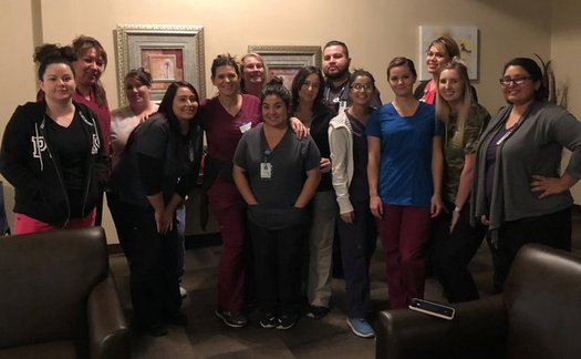 Community health center employees volunteered to help at an assisted living center after the Camp Fire. (Ampla Health)