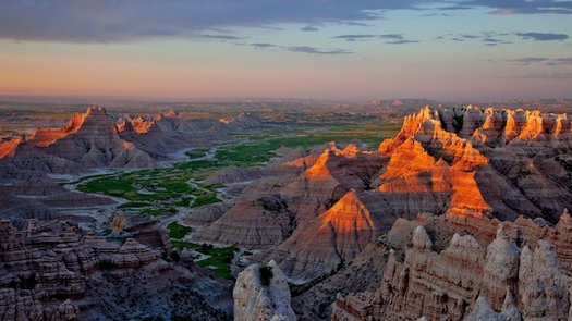 South Dakota's Badlands is one of 400 sites within the National Parks system, which includes 28,000 buildings and 18,000 miles of trails.  (nationalparks.org)