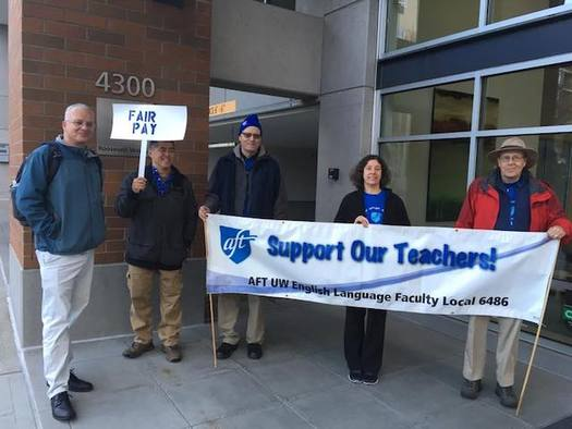 Instructors in UW's international programs are looking for pay parity with their colleagues at the university. (UW AFT English Language Faculty)