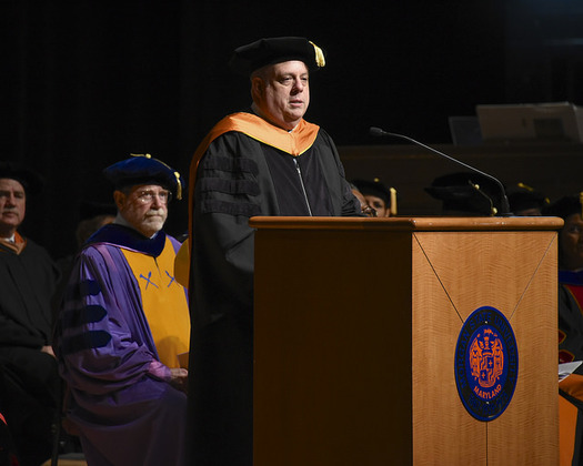 Gov. Larry Hogan was the keynote speaker for the 2016 Honors Convocation at Morgan State University. (Joe Andrucyk/Maryland GovPics/Flickr)