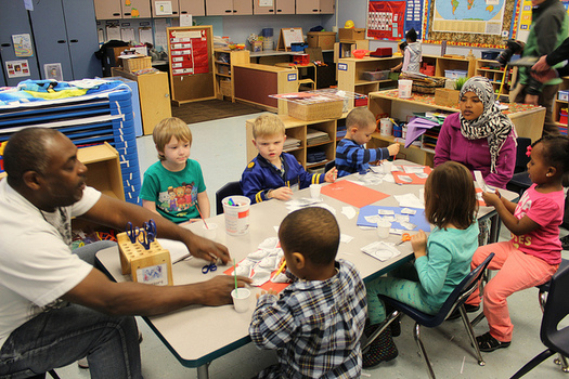 Nearly nine in 10 early-education facilities in Washington state said low wages make it difficult to hire qualified staff. (Seattle City Council/Flickr)