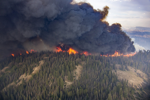 The area burned each year in the Northwest could quadruple by the 2080s if current temperature trends continue. (Kari Greer/U.S. Forest Service)