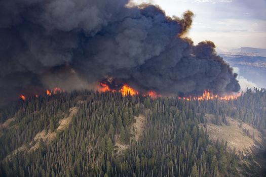El área que se quema cada año en el noroeste podría cuadruplicarse para el año 2020 si sigue la tendencia actual. (Kari Greer/U,S, Forest Service)
