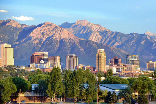 Parts of Salt Lake City, seen here on a clear day, have been in non-attainment of federal air-quality standards for more than a decade. (Flickr)
