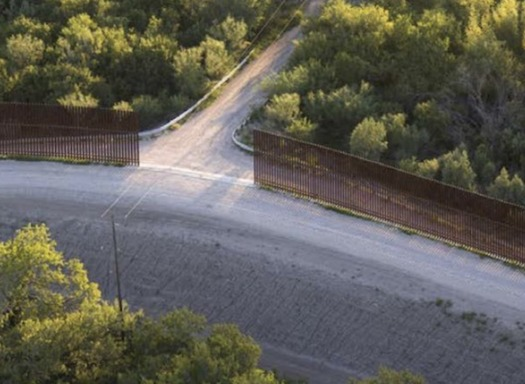 Border wall prototypes stand in McAllen, Texas, as the government remains in partial shutdown over a standoff about funding for a border wall.  (U.S. Customs & Border Patrol)