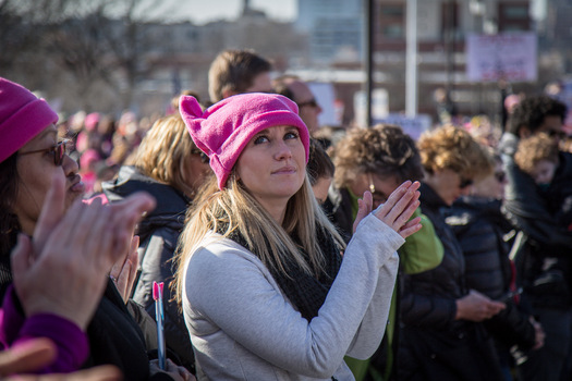 The Women's March in January 2018 drew large crowds to Reno. (Phil Roeder/Flickr)