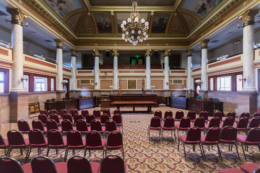 Climate change will be a big topic when conservation groups meet today with Montana lawmakers in the Old Supreme Court Room at the State Capitol. (Martin Kraft/Wikimedia Commons)