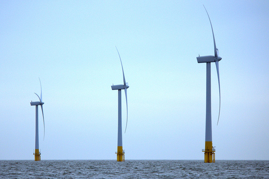 Six wind turbines would be installed eight miles off the coast of Cleveland if the Icebreaker project gets approval. (Rob Faulkner/Flickr)