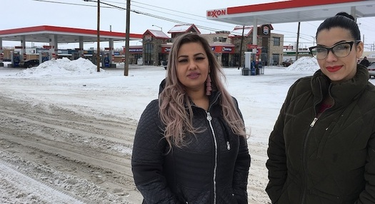 Martha Hernandez (L) and Ana Suda (R) were detained for 40 minutes by a U.S. Border Patrol agent who overheard them speaking Spanish. (Brooke Swaney/ACLU of Montana)