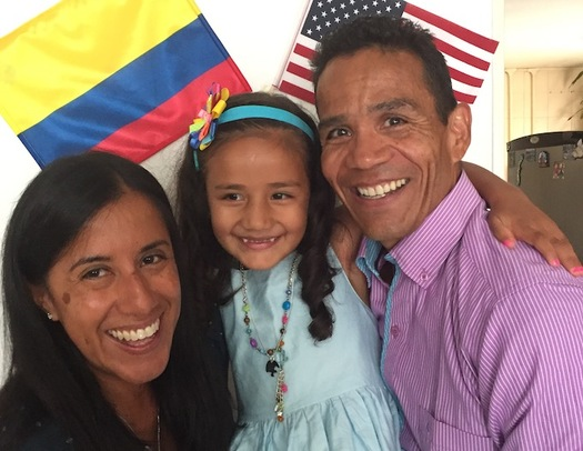 A bill in the Minnesota Legislature would create a paid-leave insurance policy to cover a portion of wages while workers care for sick family members or new additions to the family. Pictured: MAPE member Miguel Lindgren with his wife Monica and daughter Camila. (MAPE)