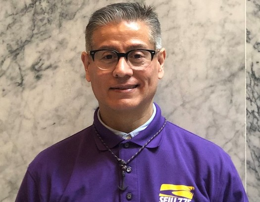 Raul Hidalgo, who has been taking care of his brother for more than two decades, says he must sometimes pay out of his own pocket for medical expenses. (SEIU 775)