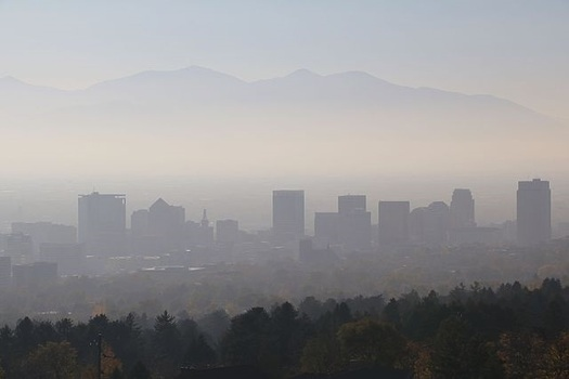 Air quality in Salt Lake City turns dangerous each winter when a natural air inversion traps pollution from coal-fired power plants and other sources in the atmosphere. (WikimediaCommons)