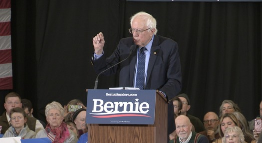 Sen. Bernie Sanders made his first official 2020 campaign appearance in Concord on Sunday. (Kevin Bowe)
