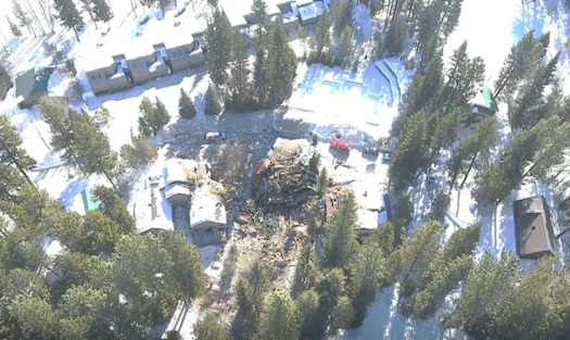 Debris from the McCall home explosion reached a 200-yard debris field. (Idaho State Police via Idaho Dept. of Insurance)