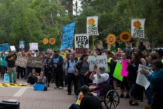 Opponents say a bill headed to Gov. Holcomb's desk is aimed at silencing environmental protestors.(Fibonacci Blue/Flickr)