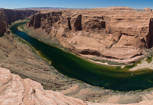 Unmitigated climate change could result in a 30% decline in the Colorado River, which supplies drinking water for 40 million people. (Christian Mehlführer/Wikimedia Commons)