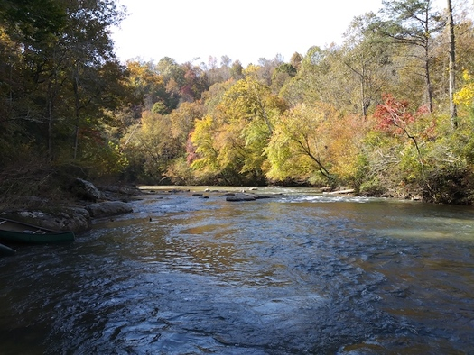 The Jacob Fork River in Catawba County flows along a 188-acre property acquired by Foothills Conservancy of North Carolina. (Foothills Conservancy of North Carolina)