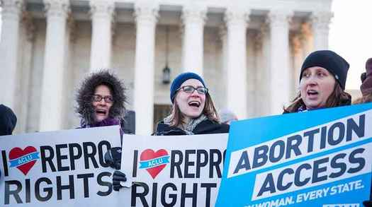 Pro-choice advocates are expected to rally at state capitols and courthouses in all 50 states today in response to Alabama's almost total ban on abortion passed last week. (aclu-ia.org)