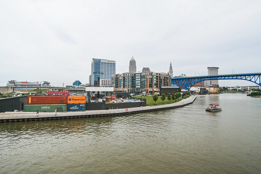 The Cuyahoga River is listed as an Area of Concern in the Great Lakes. (Eric Drost/Flickr)
