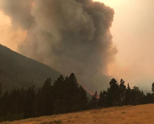 In 2017, more than 1.2 million acres burned in Montana � one of the state's worst wildfire seasons on record. (U.S. Forest Service/Wikimedia Commons)